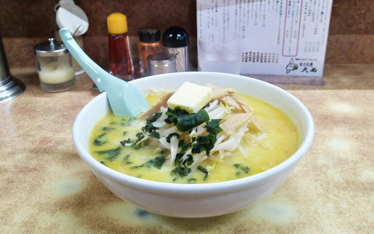 Curry ramen in Ajino Sapporo Oonishi