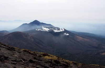 View on the Shinmoedake volcano,