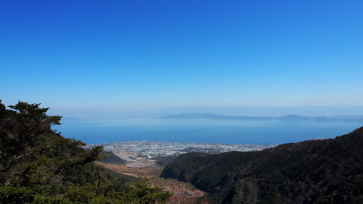View from the Mount Unzen hike